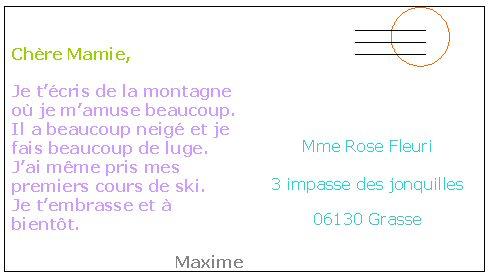 texte pour carte postale Lire une carte postale   Maxicours