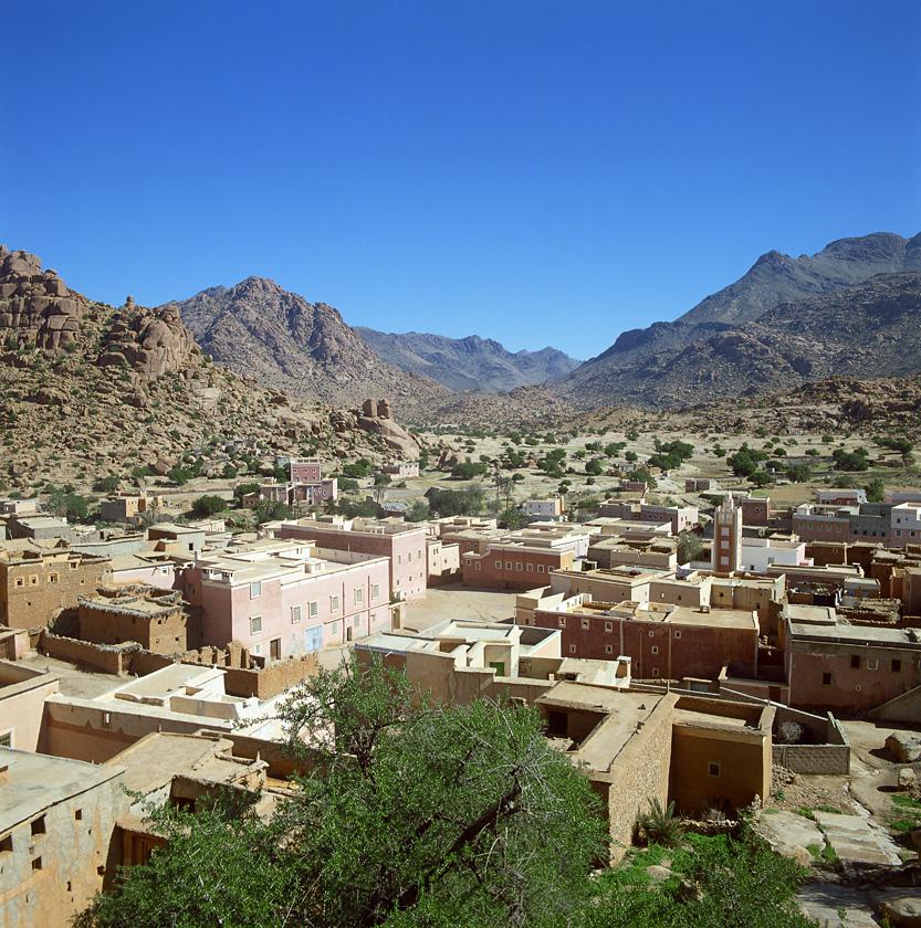 Village de Tafraout, dans l'Atlas marocain