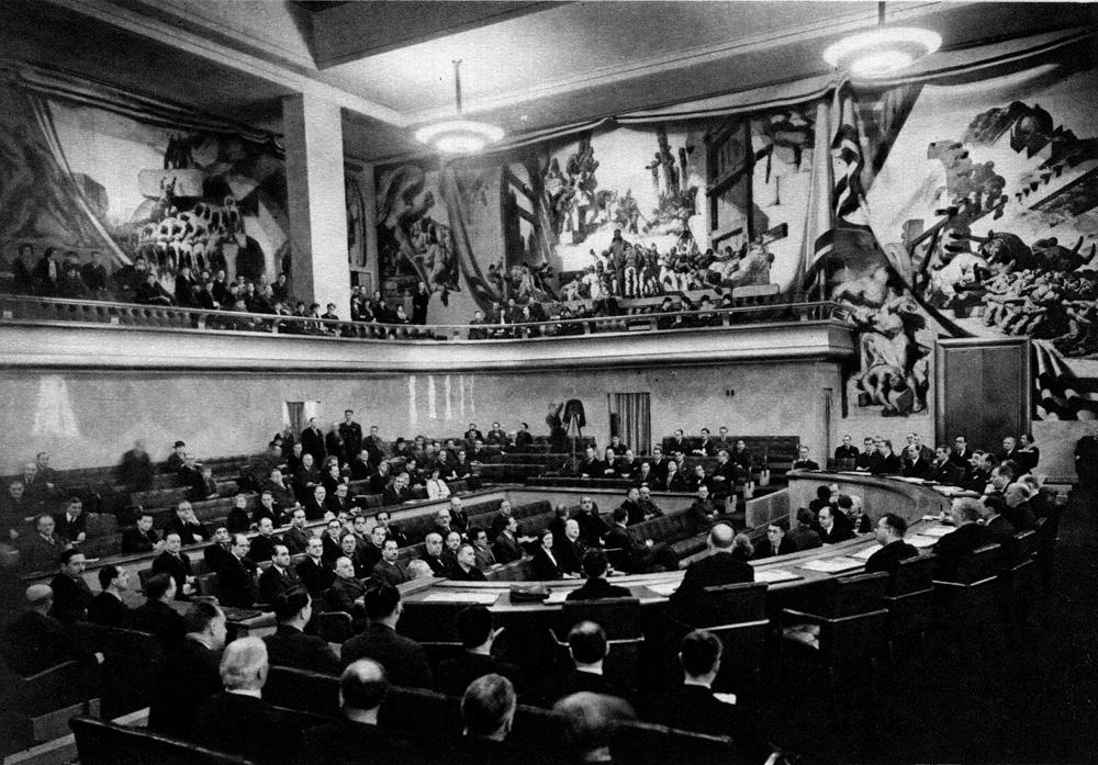 Une séance du conseil de la Société des Nations (Suisse) - Cultea