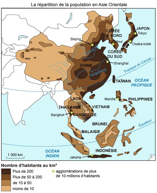 Carte Accroissement Naturel Asie.Asie Du Sud Et De L Est Les Defis De La Population Et De La