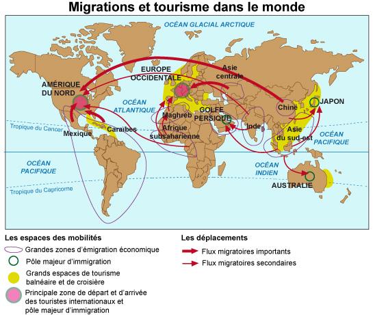 Les Migrations Et Le Tourisme Dans Le Monde Maxicours