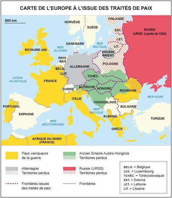 Carte De Leurope Apres La Premiere Guerre Mondiale.Une Nouvelle Carte De L Europe Sous Tension Cours D