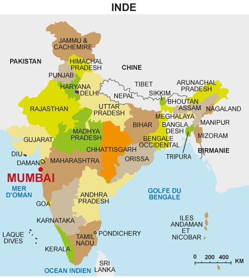 mumbai carte du monde Mumbai, une grande métropole mondiale   Maxicours